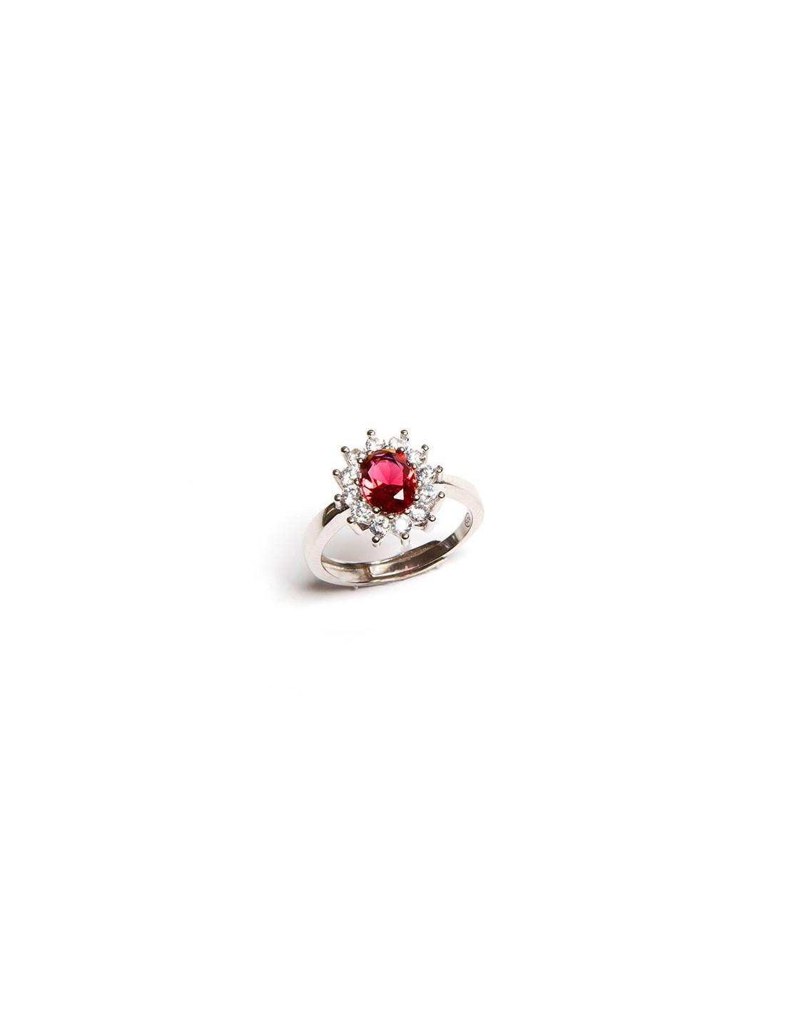 anello pietra rossa pandora