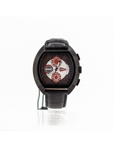 Orologio Uomo D&G DW0214 Cronografo in acciaio e pelle