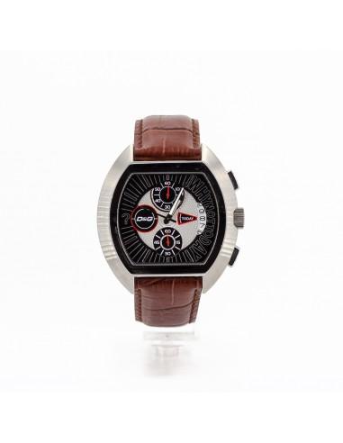 Orologio Uomo D&G DW0213 Cronografo in acciaio e pelle