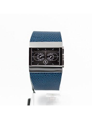 Orologio Uomo D&G 3719740247 Cronografo in acciaio e pelle