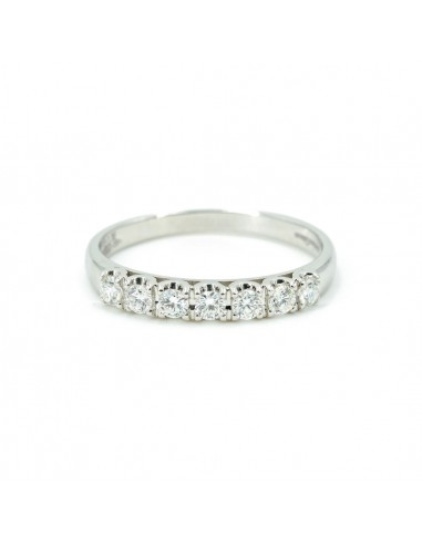 Bianco Anello Veretta Diamanti In E Oro YI6gyvbf7