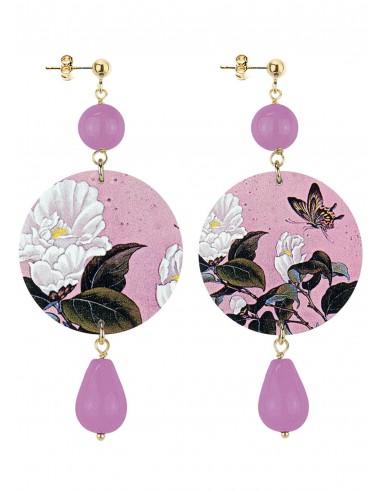 Orecchino Viola collezione Japan Lebole